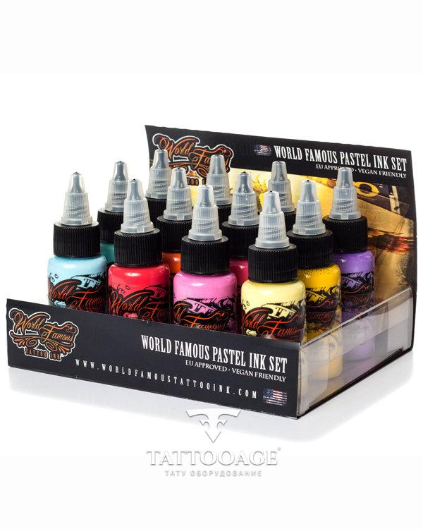 World Famous Ink 12 Color Pastel Set